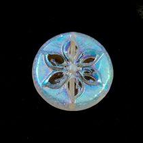 Cseh table cut gyöngy - hosszában fúrt - Opal Rose Picasso - 15mm