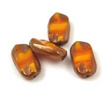 Cseh table cut gyöngy - hosszában fúrt - 91210-86800 - Opal Yellow Picasso - 15mm