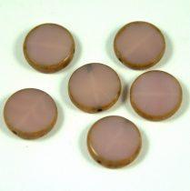 Cseh table cut gyöngy - hosszában fúrt - 21400-86800 - Opal Pale Purple Picasso - 15mm