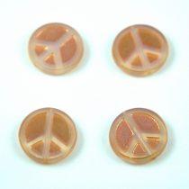Cseh table cut gyöngy - hosszában fúrt - Peace - 01000-29123 - Opal White Rose AB - 16mm