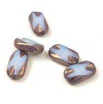 Cseh table cut gyöngy - hosszában fúrt napsugaras négyzet - 83120-86800 - Yellow Picasso - 10x10mm