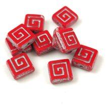 Cseh table cut gyöngy - hosszában fúrt napsugaras négyzet - 00030-28703 - Crystal AB - 10x10mm
