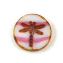 Cseh table cut gyöngy - hosszában metszett tégla lakú - Red Picasso- 11x8mm