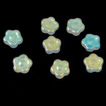 Cseh table cut gyöngy - hosszában metszett tégla lakú - Dark Ivory Picasso - 11x8mm
