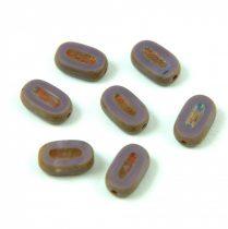 Cseh table cut gyöngy - hosszában fúrt ovális - Purple Picasso - 23020-86800 - 10x6mm