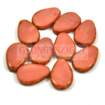 Cseh table cut gyöngy - hosszában fúrt csepp lakú - Rose Picasso - 74020-86800 - 18x12mm