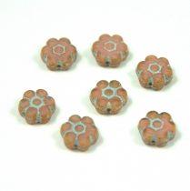 Cseh table cut gyöngy - hosszában fúrt virág - Rose Picasso - 73000-86805 - 8mm