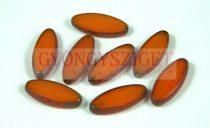 Cseh table cut gyöngy - hosszában fúrt ovális - opál narancs picasso - 81250-86805 - 20x9mm