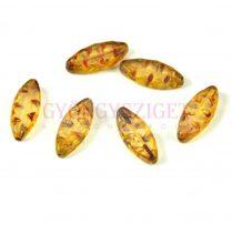 Cseh table cut gyöngy - hosszában fúrt ovális mintás - kristály picasso - 00030-86800 - 18x7mm