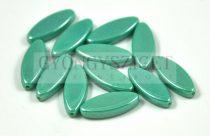 Cseh table cut gyöngy - hosszában fúrt ovális - green turquoise luster - 63130-14400 - 20x8mm