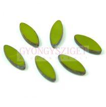Cseh table cut gyöngy - hosszában fúrt ovális - Green Picasso - 53420-86805 - 18x7mm