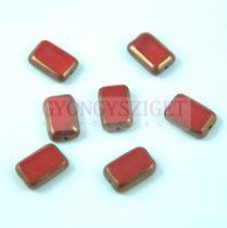 Cseh table cut gyöngy - hosszában fúrt tégla - Opaque Red Bronze - 93200-14415 - 12x8mm