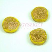 Cseh préselt egyedi formák - Jonquil Gold - Sun - 17mm (83120-54302)