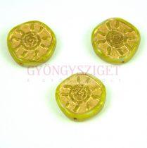 Cseh préselt egyedi formák - Green Gold - Sun - 17mm (53120-54302)