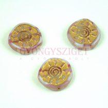 Cseh préselt egyedi formák - Pink Blend Gold - Sun - 17mm (07724-54302)