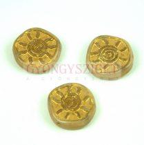 Cseh préselt egyedi formák - Ivory Gold - Sun - 17mm (13020-54302)