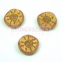 Cseh préselt egyedi formák - Rose Gold - Sun - 17mm (73020-54302)