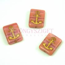 Cseh préselt egyedi formák - Rose Gold - Anchor - 12x15x4mm (73020-54302)