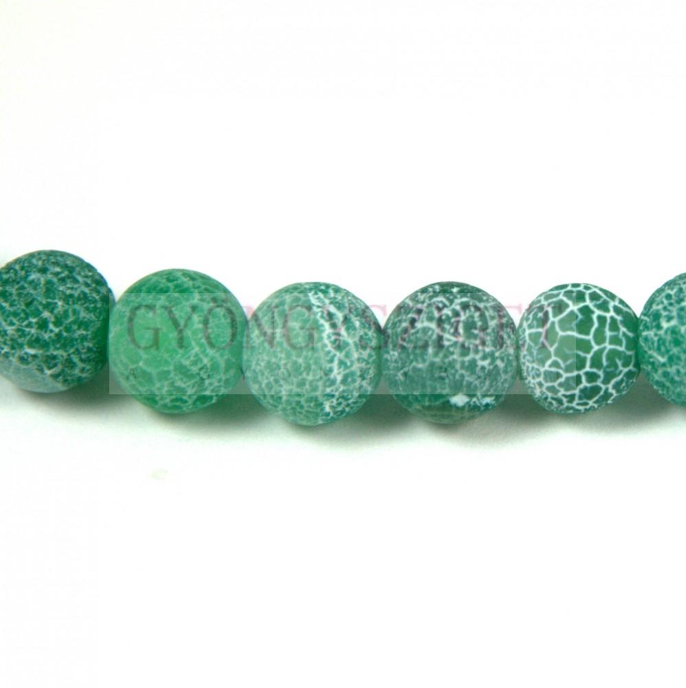 Achát gyöngy - matt emerald - 8mm Achát gyöngyök 7eea1897fc