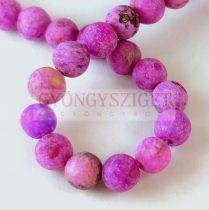 Agate - round bead - Crazy Matt Purple - 8mm - strand