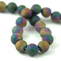 Agate - round bead - Druzy Rainbow Iris - 8mm - strand