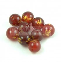 Agate - round bead -Dragon - brown - 8mm
