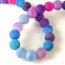 Agate - round bead - mix with veins - matt - 8mm - strand (appr. 48 pcs/strand)