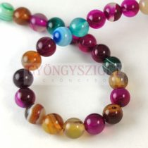 Agate - round bead - mix - 8mm - strand (appr. 47 pcs/strand)