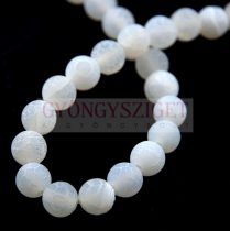 Agate - round bead - matte alabaster - 8mm (appr. 45 pcs/strand)