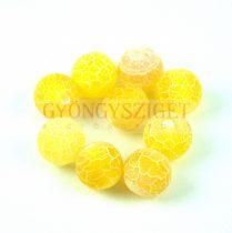Achát gyöngy - matt citrom - 10mm