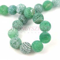Agate - round bead - matte emerald - 10mm (appr. 38 pcs/strand)