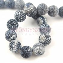 Agate - round bead - matte jet - 10mm (appr. 38 pcs/strand)