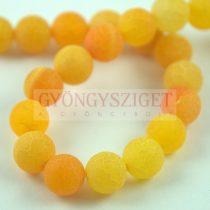 Achát gyöngy - matt light orange - 10mm (kb. 38db/szál)