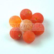 Achát gyöngy - matt narancs - 8mm