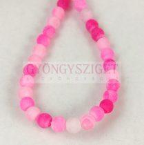 Achát gyöngy - matt pink - 4mm (kb. 90db/szál)