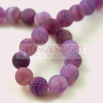 Agate - round bead - Matte Veins - Purple - 8mm (appr. 45 pcs/strand)