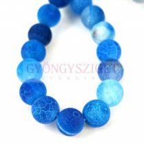 Agate - round bead - Matte Veins - Sapphire - 8mm (appr. 45 pcs/strand)