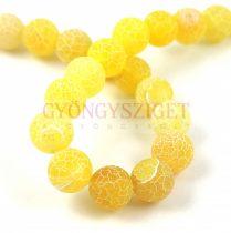 Agate - round bead - matte yellow - 10mm (appr. 38 pcs/strand)