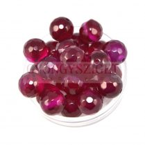 Agate - round bead - faceted- 10mm