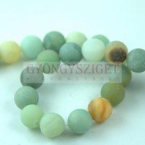 Amazonite - round bead - matt - 8mm - strand