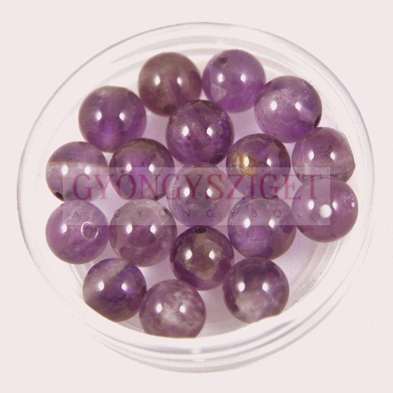 Ametiszt gyöngy - 8mm - szálon Ametiszt gyöngyök és kabosonok bfcb4a54ef