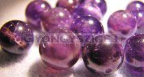 Ametiszt gyöngy - 12mm