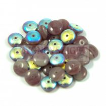 Lentil - Czech Glass bead - ametiszt ab -6mm