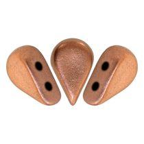 Amos® par Puca®gyöngy - matte copper - 5x8 mm