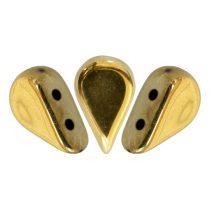 Amos® par Puca®gyöngy gyöngy - crystal full amber - 5x8 mm