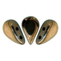Amos® par Puca®gyöngy - golden bronz - 5x8 mm