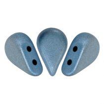 Amos® par Puca®gyöngy - matte metallic blue - 5x8 mm