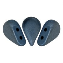 Amos® par Puca®gyöngy - matte metallic dark blue - 5x8 mm