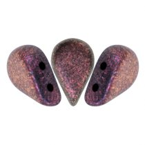 Amos® par Puca®gyöngy - Polichrome Copper Red - 5x8 mm