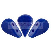 Amos® par Puca®gyöngy - Opaque Sapphire Luster - 5x8 mm